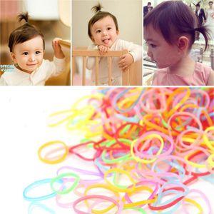 3000 1500pcs bag Kid Disposable Gum TPU Thicken Rubber Bands Ponytail Holder Elastic Hair Band Girl Scrunchie Hair Accessories