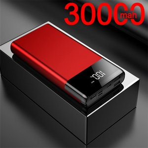 30000mAh Power Bank Portable Phone Charging External Powerbank Digital Display for Xiaomi Samsung IPhone Outdoor Travel Charger