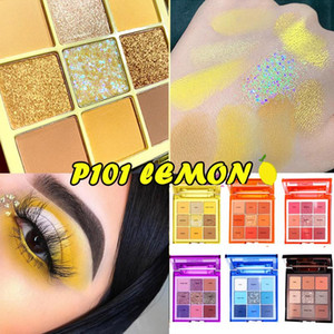 Yellow Eye Shadow Brightening Eye Shadow Long-lasting Matte Shimmer Neon Eyeshadow Diamond Pearlescent Makeup Palette