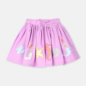 Little maven 2020 new summer baby girl clothes animal embroidery cotton children mini skirts S0658 Y1201