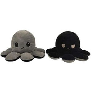 Lovely Reversible Plush Octopus Toys Soft Cotton Stuffed Plush Toy Kids Gift Double Sided Emotion Octopus Doll Peluches 1pc jllfTo