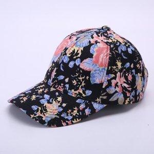 2019 New Unisex Women Men Hats Adjustable Black White Color Printing Graffiti All-matching Baseball Cap For Male Female