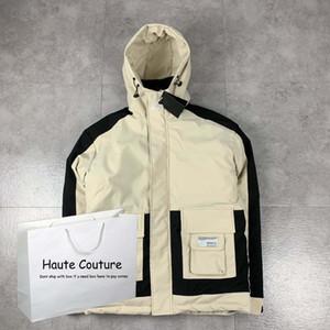 Mens Down Jackets 2020 Winter Parkas Fashion Active Outerwear Men Coats Pocket Jackets Letter Pattern Mens Tops Plus Size Hot Sale