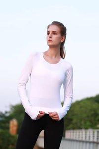 yoga manica lunga equipaggio palestra donna fitness t shirt donna manica lunga yoga top womens gym tops sport usura donne palestra in corsa superiore