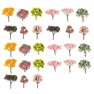 27pcs simulation arbres artificiels micro durables simulation décoratifs arbres arbres paysage décoration ornement pour hôtel à la maison