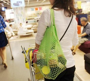 200pcs Mesh Bag Cotton Net Washable Reusable eco Friendly Vegetable Fruit Storage Shopping Bag with Mesh grocery bag