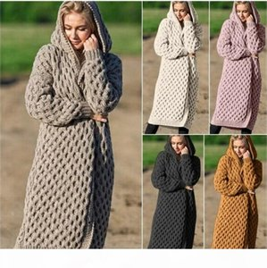 Flaid Pattern Womens Sweaters Cardigan Designer Coat With Hat Knitwear Clothes Fashion Ladies Winter Long Clothes