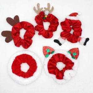 Pelúcia penteado flannelette santa claus enrolamento antlers vermelho elástico adulto mulher moda headrope natal 2020 3 2ry k2