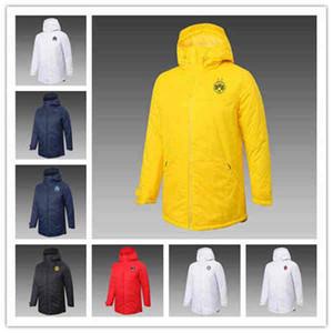 2020 2021 AC Milan Cotton-acilladado Ropa acolchada Chaqueta de abrigo Jersey de fútbol 20 21 Abrigo de traje de manga larga Ibrahimovic Haaland Agüero Fútbol
