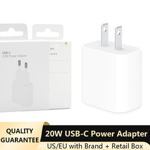 USB-C 20W Power Adapter for iPhone 12 11 Pro Pro Max XR EU US Plug with Retail Box Type-C PD Port Home Travel Charger