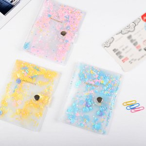 Fashion Sequin Passport Covers Travel Accessories Girls Dream Color Business Passport Holder Students PVC Portable Bag