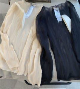 Письма Вышитая Тюль Футболка Черный Сексуальный Базовый Пальто Для Женщин Мода Кружева С Длинным Рукавом Топ 2 Цвета