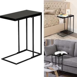 Caffè Vassoio Side Sofà End Table Table Sala Livining Room Black Frame Base in ferro battuto Tavolino