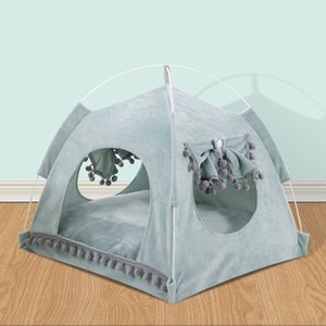 Dropshipping Cute Pet Bed for Cats Puppy Dog House Bed Breathable Summer Tent Cat Beds for Rabbits Hamster Cat Pet House