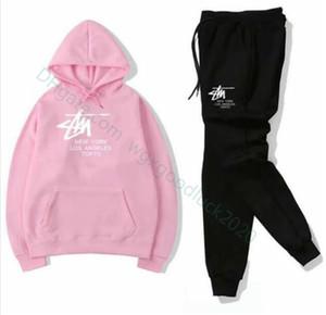 Free shipping mens Womens active set tracksuits Hoodies Sweatshirt +Pant Sport Track suits Two Pieces jogging sets survetement femme clothes