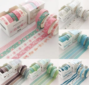 Supply Tape School Creative Pcs pack Decorative Sticker 2016 Label Masking Washi Grid Colorful Scrapbooking Adhesive Office Tape 5 sqcTQ