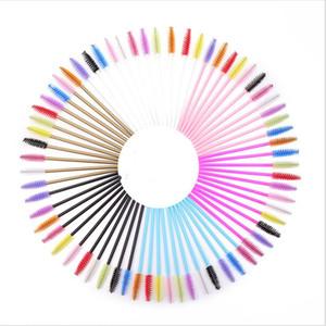 Shiny Eyelash Brush Disposable Eyebrow Brushes Mascara Wands Applicator Lash Curling Comb Grafting Beauty Makeup Tool 50 sets DHL
