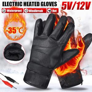 Guanti riscaldati elettrici invernali antivento ciclismo riscaldamento caldo riscaldamento touch screen skiing guanti USB alimentato riscaldato per uomini donne