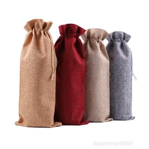16Colors New Chrismas Gift Christmas Decorations Red Bottle Cover Bags Champagne Wine Bag Xmas Gifts 15*35cm OWD1113