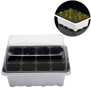 Flower Mini Pots Plug Trays 12 Cells Hole Outdoor Nursery Pot Plant Seeds Grow Box Garden Tools 3 pieces Set
