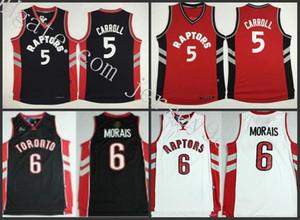 TorontoRaptorsmen #6Carlos Morais #5DeMarre Carroll Red whiteNBA green men jersey