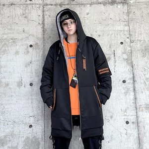 Winter Men's Parka Medium Length Hooded Solid Thick Warm Wind-proof Casual Fashion Large Size Loose Quality Male Coat