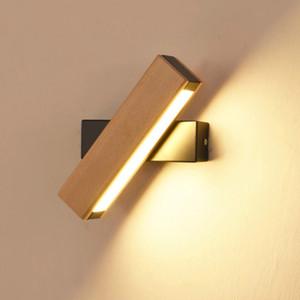 Nórdio simples lâmpada de parede de madeira lâmpada moderna de iluminação ajustável restaurante restaurante sala de estar alpendre lâmpadas de parede corredor decoração corredor