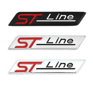 3D металлические автомобильные наклейки ST Line эмблема значок наклейки для Ford F-150 Focus X Vignale ST Line Mondeo Escape Ecoboost 245 330 Explorer