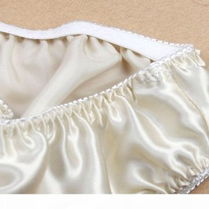 Women Silk Satin Panties Female Respiratory Underwear 6pcs Pack Ladies Knickers Briefs CX200605