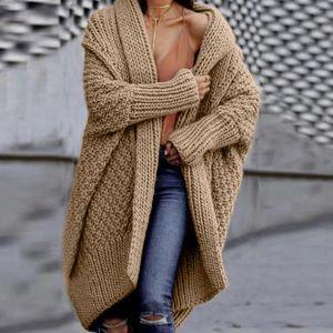 2020 Fashion Women Sweater Coat Long Sleeve Solid Open Stitch Cardigans Slim Casual Knitted Oversize Women Outwear Coat Tops
