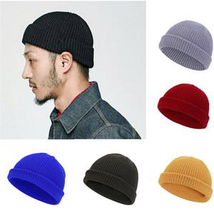 Adolescence tricoter hiver bonneyes dodues bosses unisex femmes hommes manuser chapeau chapeaux slouchy crâne capuchon tuque tuque côtelé crochet hip hop hip chapeau ppa202
