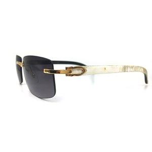 luxo Marca designer dos homens quadros madeira branco preto buffalo chifre culos de sol carter buffs eyewear ZTC7