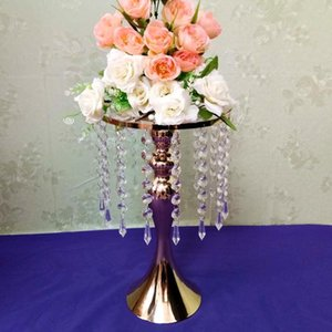 Wedding Props New S-shaped Crystal Acrylic Bead Curtain Rotating Road Lead Flower Wedding party decoration road Bracket Vase