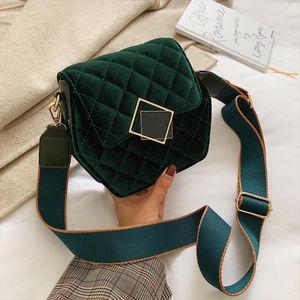 Winter Velvet Crossbody Bags For Women 2019 Solid Color HexagonShoulder Messenger Bag Designer Lady Purses and Handbags