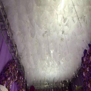 New 5x5 M Fashion Party Decor Cloud Top Yarn Wedding Banquet Ceiling Centerpieces White Cloud Curtain Free Shipping