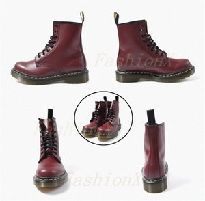 Classic 1460 Hombre Bota Tobillo Cristal Sole Martin Mens Mujeres Mujeres Piel Nieve Martines 3/8 orificios Botas Doc Cojín Suelas Zapatos 36-46 2020D #