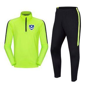 Portsmouth F.C 2020 2021 men's football tracksuit jacket top outdoor training sportswear Adult Jogging wear adult kids soccer suits