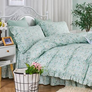 Bedding Sets Princess Flower Ruffle Sets,twin Full Queen King Girl Cotton Single Double Bedclothes Bedspreads Pillow Case Quilt Cover
