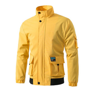 2020 New Spring autumn Mens Fashion Outerwear Windbreaker Men' S Thin Jackets outdoor Casual high quality Coat Big Size