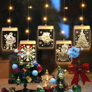 LED 에너지 절약 컬러 조명 가정용 크리스마스 트리 눈송이 모양 램프 room 창턱 10pcs t1i3055에서 램프 stringdecorations