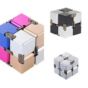 BPCAG CSDouble Play 압축 해제 루빅의 알루미늄 합금 Cuberubik의 무한 큐브 금속 큐브 어린이 교육 색상과 어린이