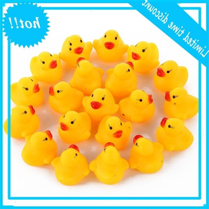 1000pcs DHL EMS Free Baby Water Sounds Mini Yellow Rubber Ducks Bath Small Duck Toy Children Swiming Beach Gifts High Quality