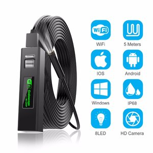 WiFi-Endoskop-Kamera HD 1-10m Mini wasserdicht Hartdraht Wireless 8mm 8 LED-Borrekop-Kamera für Android-PC iOS-Endoskop