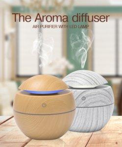 Mini Air Humidifier USB Diffuser Wood Led Nightlight Electric Essential Oil #23