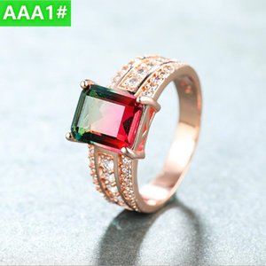 Women's ring new products platinum inlaid diamond colorful gemstone fashion luxury high-end quality rings sell well for women's rings NO65#
