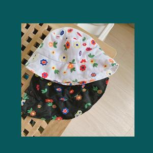 New Korean Style Flower Lace Mesh Bucket Sun Hat Spring Summer Flat Bucket Hat Fashion Ladies Breathable Fedora Visor Hat Nz141 H jllIAZ