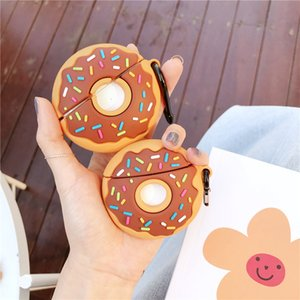 New Cute Donut Silicone Cover For Airpods pro Kawaii Wireless Bluetooth Earphone Case Protective Cover Accessories For Airpods