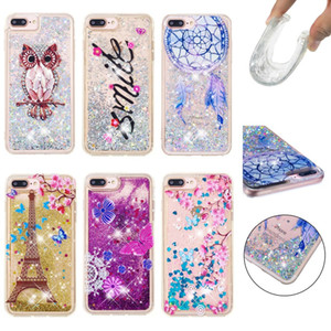Case for iPhone 11 Pro Max XS XR X XS MAX 7 8 Plus 4 4s 5 5s SE Quicksand Back Cover Dynamic Liquid Cute Pattern Phone Coque