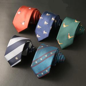 2020 7 cm erkek Kravat Jakarlı Dokuma Cravatta Boyun Bağları Adam Için Damat İş Kravat Gömlek Corbatas Özel Logo