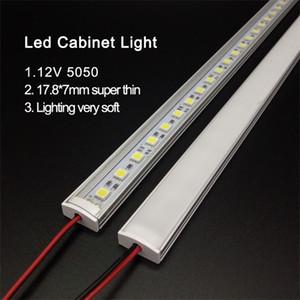 Kitchen Light expert DC12V 5050 LED Hard Rigid Strip Bar +U aluminium+flat cover kitchen strip light 5pcs milky 50 cm Q1121